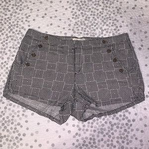 black & white printed shorts
